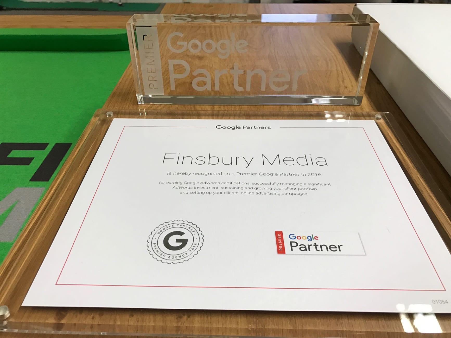 Finsbury Media Google Premiere Partner Agency