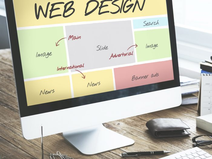 Web Design agency creating web page layout